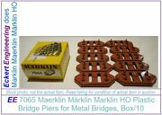 Ee 7065 New Marklin Ho Bridge Pier 6 Mm 1/4 Inch Tall Pk/10 Piers With Obx Nos