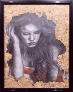 Graphite Pencil And Color Chalk Drawing Of Singer Shakira