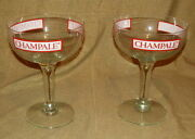 Beer Advertising Champale Trenton Nj Large Glass Compotes