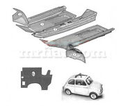 Fiat Nuova 500 - 500d Rubber Carpet Set N.6 Excluded New