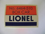 Lionel No. 6464-510 Nyc Girl's Box Car Licensed Reproduction Box