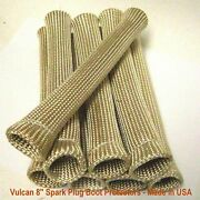 Fire Shield Tan/natural 8 Long Spark Plug Wire Boot Heat Protectors 8 Cylinder