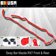 86-91 Mazda Rx-7 Rx7 Fc3 Front 18 And Rear 28mm Anti Roll Sway Stabilizer Bar Red