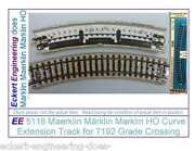 Ee 5116 Ln Marklin Ho Curve Extension Track For 7192 M Grade Xing With Obx