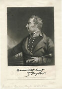 President Zachary Taylor And Original Ca 1846 Portrait Engraving By John Sartain