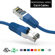 Cat6 Shielded Sstp Ethernet Patch Copper Cable 30ft 40ft 50ft 75ft 100ft Network