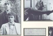 Peter Cook Dudley Moore And Dustin Hoffman Signed Autographs