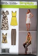 Simplicity 1810 Sewing Pattern Misses' And Plus Size Sportswear Wardrobe Dress New