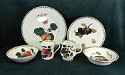 45-pce Set Of Rosina-queens Royal Hooker's Fruit Fine China