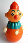 1950s Vintage Ussr Russian Soviet Celluloid Roly-poly Toy Doll Clown