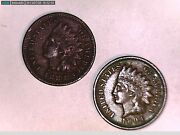 1883 And 1894 Indian Head One Cent Coin Great