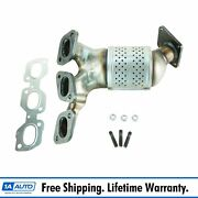 Exhaust Manifold And Gasket W/ Catalytic Converter Kit Set Rh For 02-06 Mpv 3.0l
