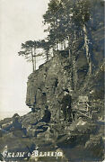 Imperial Russia And Rocks Of Valaam - Original Cir 1910s Real Photo Postcard