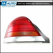 Taillight Taillamp Left Rear Red And Amber W/ Chrome Trim For 98-03 Crown Victoria
