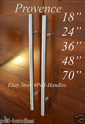 Door Long Pull Pulls Entry T Bar Handle Stainless Steel 18 -70and039and039 Entrance Round