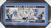 Mark Messier Signed Stanley Cup Framed Panoramic Collage Steiner Coa Rangers