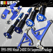 For Nissan 240sx S14 Coilover Suspension + Front And Rear Lower Control Arms