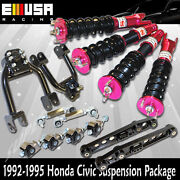 Adj Coilover Suspension Lower Kits Camber Kits Combo For Honda Civic 92-95