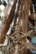 Original Rare 68 12 Candle 1920and039s Spanish Revival Wall Sconce Light