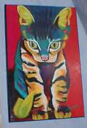 Squirt The Cat / Kitten By Ron Burns-board Mounted Print