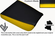 Black And Yellow Custom Fits Kawasaki Kr1s Kr1 250 88-90 Front Leather Seat Cover