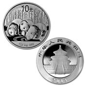 2013 1 Oz Chinese Giant Panda 10 Yuan .999 Silver Brilliant Uncirculated Coin