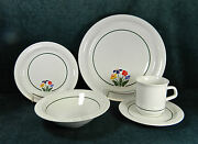 30-piece Set For 6 Of Anchor Hocking Greenhouse Pat. C8700/42 Fine China