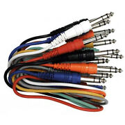 Hosa Technology Css-845 Balanced Patch Cables 1/4 In Trs To Same 8 Pc New