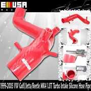 Turbo Inlet Intake Silicone Red For Audi Tt 01-05 Base Convertible 2d 1.8t