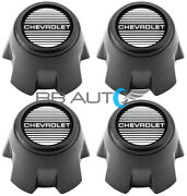 New 81-85 Chevy Monte Carlo Ss 15 Steel Rally Wheel Center Caps Set Gm Licensed