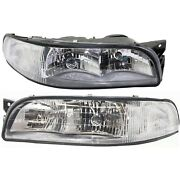Headlight Set For 97 98 99 Buick Lesabre With Cornering Lamp Equipped 2pc
