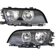 Headlights Headlamps Left And Right Lamp Pair Set For Bmw 3 Sedan Series
