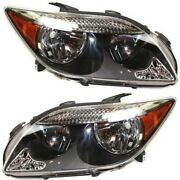 Headlights Headlamps Left And Right Pair Set New For 05-07 Scion Tc