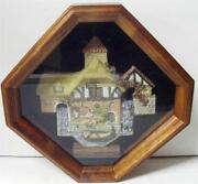 David Winter Cottages Pershore Mill Wall Hanging Collectors Guild Shadow Box