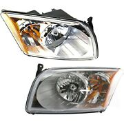 Front Headlights Headlamps Lights Lamps Lh And Rh Pair Set For 07-12 Dodge Caliber