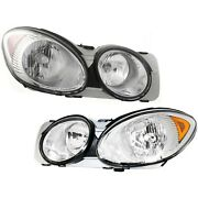 Front Headlamp Headlight Lamp Light Lh And Rh Pair Set For 05-07 Buick Lacrosse
