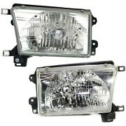 Headlights Headlamps Left And Right Pair Set New For 99-02 Toyota 4runner
