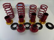Uc212 Ground Control Coilover And 2 Red Mount Kit 92-00 Civic Limited Edition