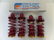 Uc214 Ground Control Coilover And 4 Red Mount Kit 92-00 Civic Limited Edition