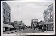Sumter Sc 1944 Main Street Downtown Coca Cola Sign Western Union And More