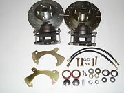 1958 1959 1960 Ford Front Disc Brake Conversion Drilled And Slotted Rotors 11