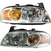 Models Headlights Headlamps Pair Set For 04-06 Nissan Sentra Base And S