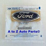 New Ford F-250 F-350 S Duty,excursion, E-250,e-350 Blue Oval Tailgate Emblem,oem