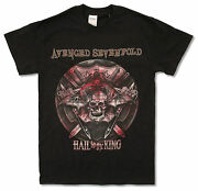 Avenged Sevenfold Battle Armor 2014 Tour Bc-oh Black T Shirt New Official A7x