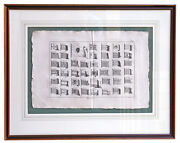 Original Copper Plate Engraving Of French Royal Navy Maritime Flags 1787