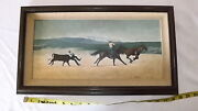 Original 1979 Oil Painting By Donal C Jolley Bakersfield Rodeo