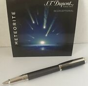 S.t. Dupont Elysee Rollerball Pen Chinese Lacquer And Meteorite 412112 New In Box