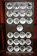 Franklin Mint Songbirds Of The World Set Of 25 Mini Plates And Display Newman