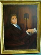 Fashion Designer Arnold Scaasi Oil Painting Portrait By Barnaby Conrad 1977