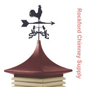 Cupola And Weathervane 22 In. X 22 In. Base, 34 In. Cupola Height